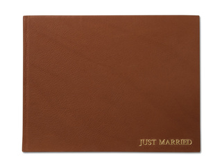 Front view photo book leather cover